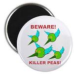 """Beware Killer Peas 2.25"""" Magnet (10 pack)"""