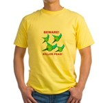Beware Killer Peas Yellow T-Shirt