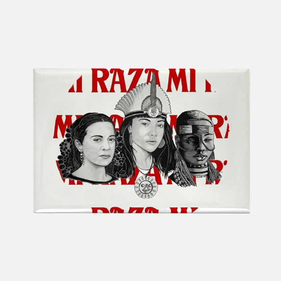 NEW!! MI RAZA (FOR WOMEN) Rectangle Magnet