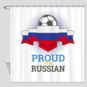 Football Russian Russia Soccer Team Shower Curtain
