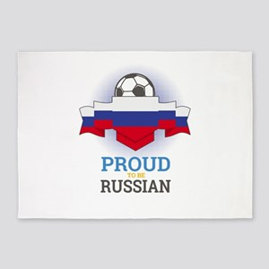 Football Russian Russia Soccer Team 5'x7'Area Rug
