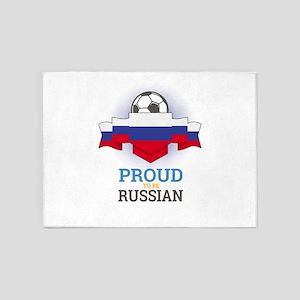 Football Russian Russia Soccer Team 5'x7'Area Rug