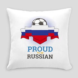 Football Russian Russia Soccer Tea Everyday Pillow