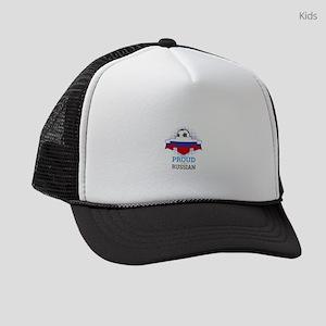 Football Russian Russia Soccer Te Kids Trucker hat