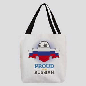 Football Russian Russia Soccer Polyester Tote Bag