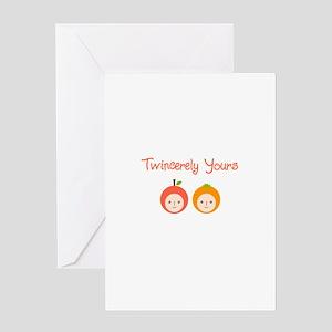 Apple and Orange Greeting Card