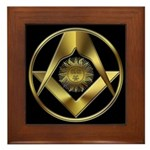 Masonic Sun in a Circle Framed Tile