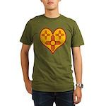 New Mexico Zia Heart Organic Men's T-Shirt (dark)