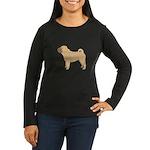 Chinese Shar-Pei Women's Long Sleeve Dark T-Shirt