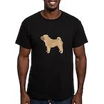 Chinese Shar-Pei Men's Fitted T-Shirt (dark)