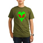 Alien Heart Organic Men's T-Shirt (dark)