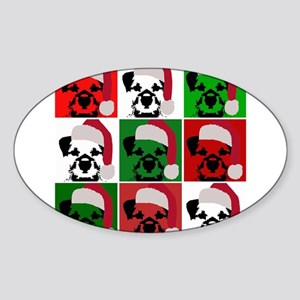 Holiday Warhol Oval Sticker