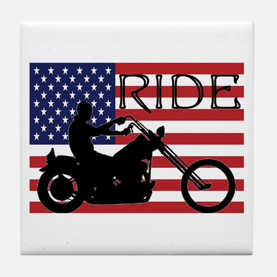 Funny Motorcycles Tile Coaster