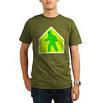 Alien Crossing Organic Men's T-Shirt (dark)