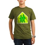Alien School Xing Organic Men's T-Shirt (dark)