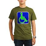 Handicapped Alien Organic Men's T-Shirt (dark)