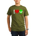 I Love Aliens Organic Men's T-Shirt (dark)
