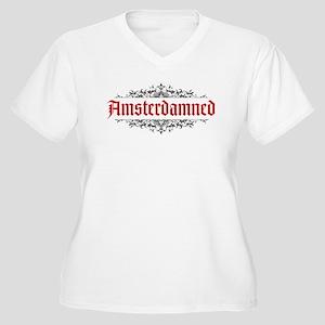 Amsterdamned Women's Plus Size V-Neck T-Shirt