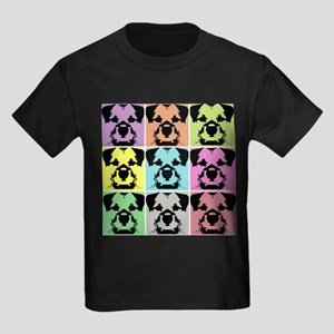 Border Terrier a la Warhol 4 Kids Dark T-Shirt