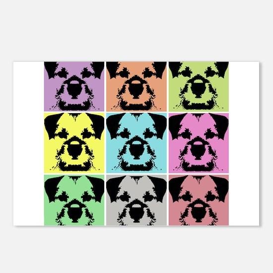 Border Terrier a la Warhol 4 Postcards (Package of