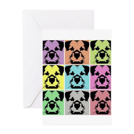 Border Terrier a la Warhol 4 Greeting Card