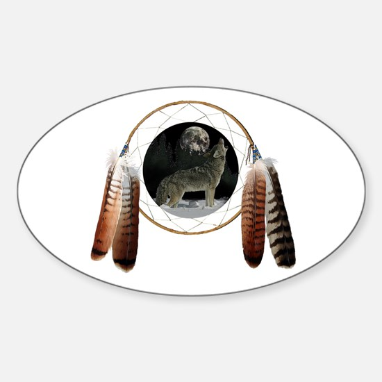 Coyote Spirit Oval Decal