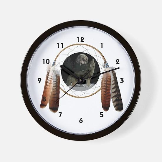 Coyote Spirit Wall Clock