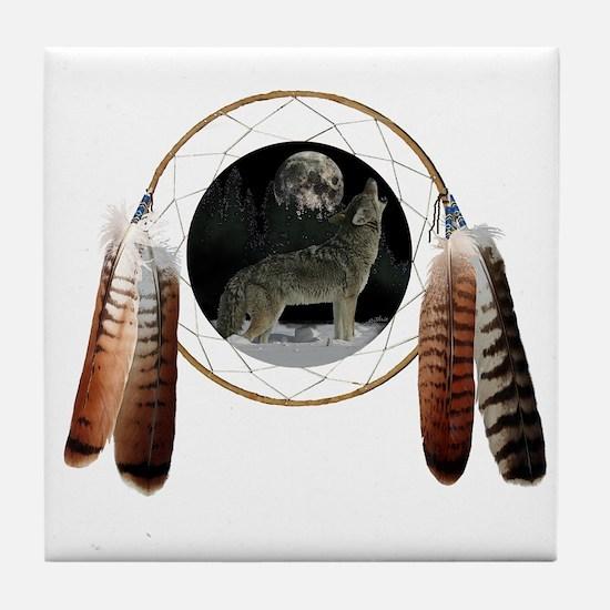 Coyote Spirit Tile Coaster