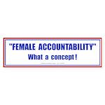Female Accountability Bumper Sticker (10 pk)