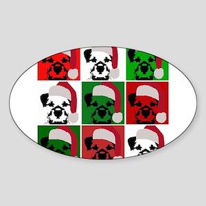 Holiday Pop Art Sticker (Oval)