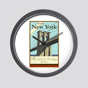 Travel New York Wall Clock