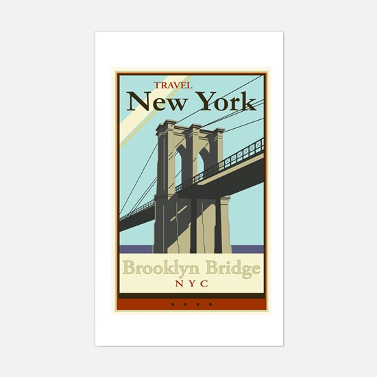 Travel New York Rectangle Decal