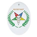 OES Secretary Oval Ornament
