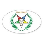 OES Secretary Oval Sticker