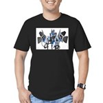 Lighting Men's Fitted T-Shirt (dark)
