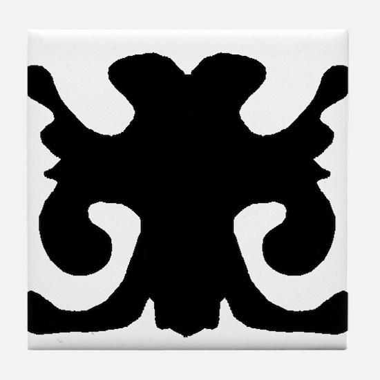 "Ink Blot ""Boy Scout Seal"" Tile Coaster"