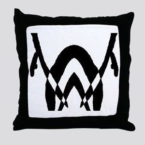 """Ink Blot """"Bend Over and Take Throw Pillow"""