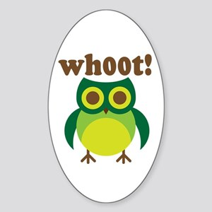 wh00t Goes The Owl Oval Sticker