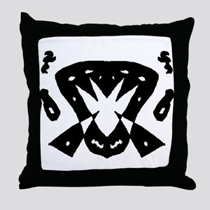 "Ink Blot ""Pizza Oven"" Throw Pillow"