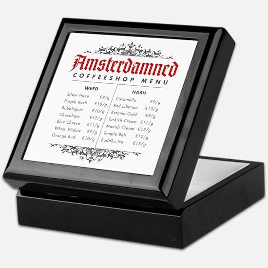 Amsterdamned menu Keepsake Box