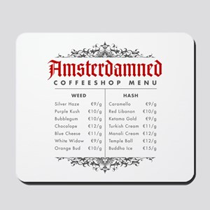 Amsterdamned menu Mousepad