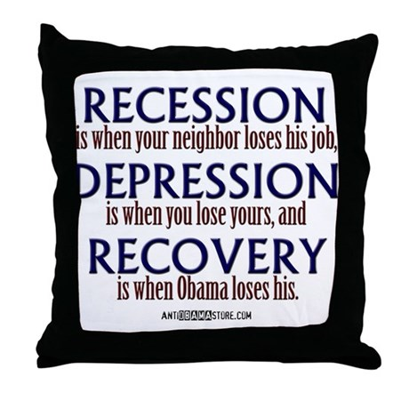 Recession, Depression & Recovery Throw Pillow
