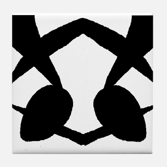 "Ink Blot ""Bikini Bug"" Tile Coaster"