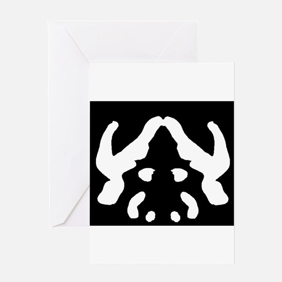 """Ink Blot """"Evil Overlord"""" Greeting Card"""