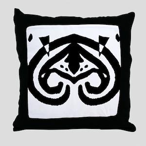 "Ink Blot ""Alien Mothership"" Throw Pillow"
