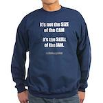 Size of the Cam Sweatshirt (dark)
