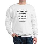 Size of the Cam Sweatshirt