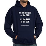 Size of the Cam Hoodie (dark)