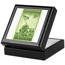 Iwo Jima 3 Cent Stamp Keepsake Box