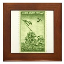 Iwo Jima 3 Cent Stamp Framed Tile
